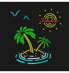 Neon Symbol Palm Tree vector