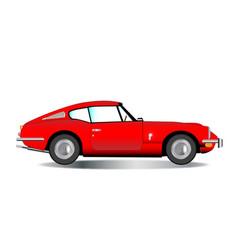 Old hard top sports car vector