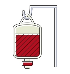 Package for blood transfusion icon flat style vector