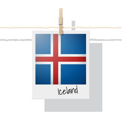 Photo of iceland flag vector