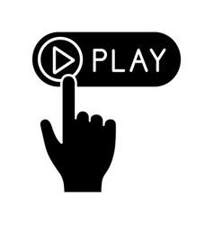 play button click glyph icon vector image