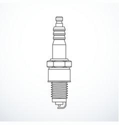 Plug spark isolated vector