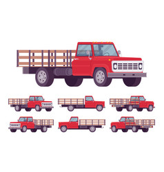 red empty truck vector image