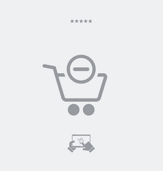 remove from cart icon vector image