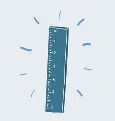 Ruller on white background vector