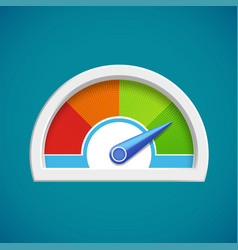 Score rating scale with arrow icon gauge vector