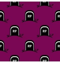 Seamless Pattern Halloween Tomb vector