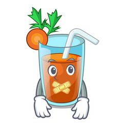 Silent sweet carrot juice isolated on mascot vector