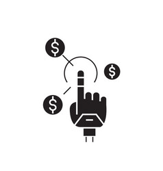 simple earnings black concept icon simple vector image