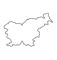 slovenia map of black contour curves of vector image