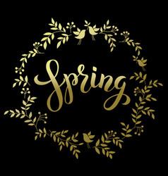 spring handwritten brashpen luthering spring in vector image