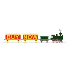 Steam Locomotive Buy Now vector image