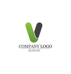 V letters business logo and symbols template icons vector