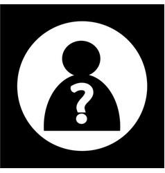 Who icon vector