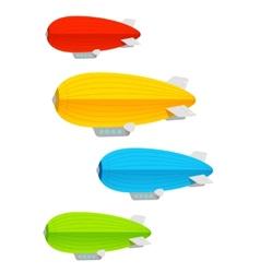 Airship colorful set vector image