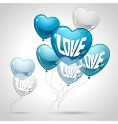 Background with flying balloons in the shape of a vector image vector image
