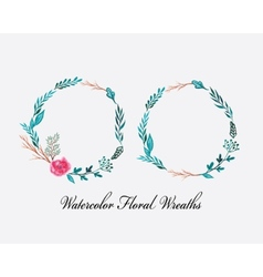 floral wreaths vector image