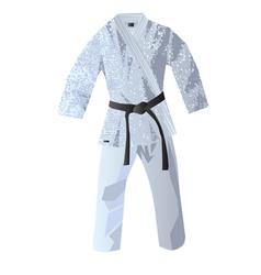 kimono for judo vector image vector image