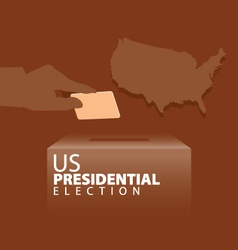 US Presidential Election vector image
