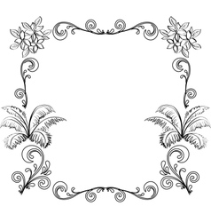 Abstract floral background outline vector image vector image