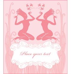 card girl vector image vector image