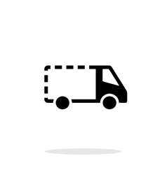 Empty delivery minibus icon on white background vector image vector image