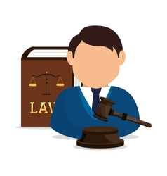 law and order design vector image