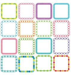 mod square frames vector image