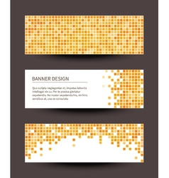Set of pixel banners on dark background vector image vector image