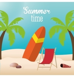 Summer holiday and vacations design vector image vector image