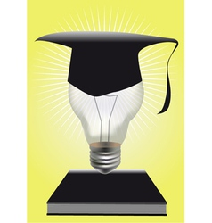 Light of graduation vector
