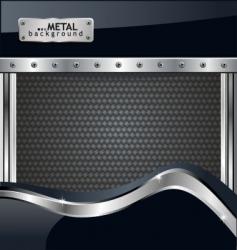 metallic fiber background vector image vector image