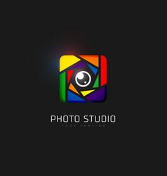 photo studio logo vector image