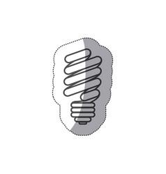 silhouette sticker eco bulb icon vector image