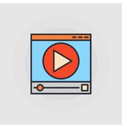 Web video player icon vector image
