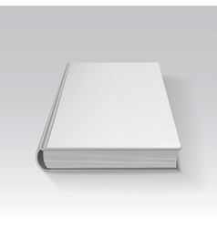 Blank book drawn in perspective with gradient mesh vector image