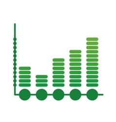 Data bars icon infographic design graphic vector