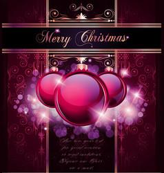 elegant merry christmas vector image vector image