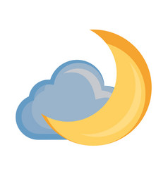 moon and cloud cartoon vector image