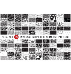 100 Universal different geometric seamless vector image