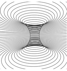 abstract design frame wormhole distort of vector image