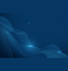 Abstract wavy connecting lines on dark background vector