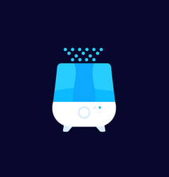 Air humidifier or purifier icon flat vector