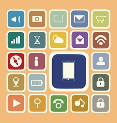 Application icons for smartphone and web sticker vector image