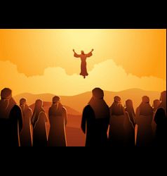 ascension jesus vector image