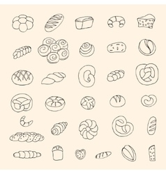 bakery items vector image