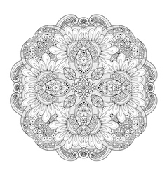 Beautiful Deco Monochrome Contour Square vector
