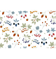 berries background strawberries blueberry vector image