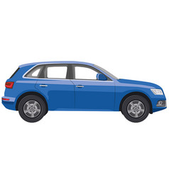 Blue hatchback car vector