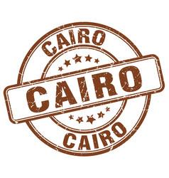 Cairo brown grunge round vintage rubber stamp vector